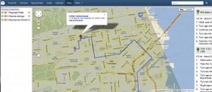 SugarCRM Google Maps Route