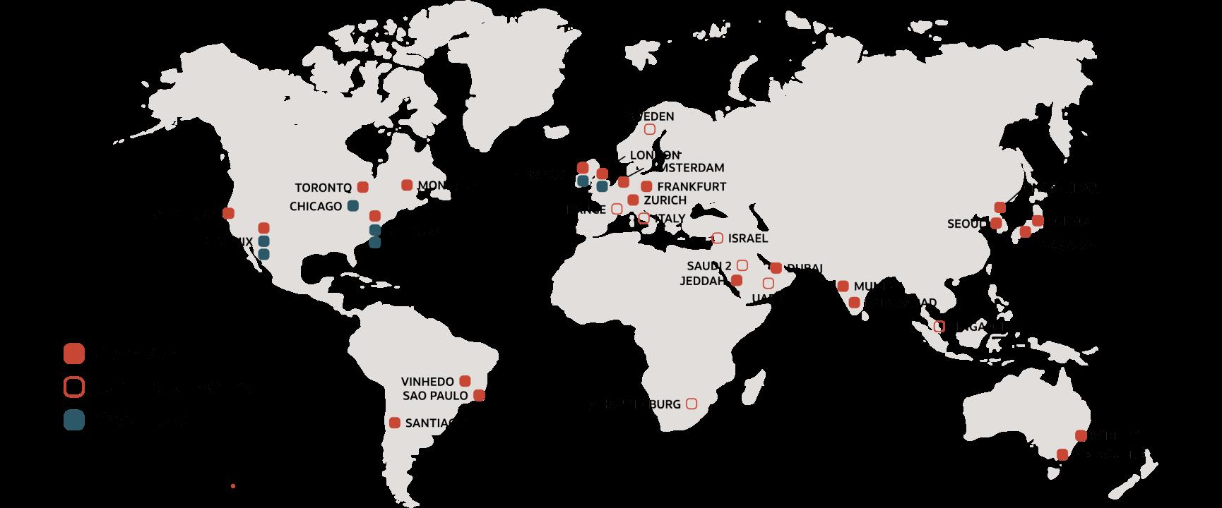 la rete dei data center di Oracle è in costante crescita. Scegli dove posizionare il tuo siftware. Potrai cambiare quando vuoi